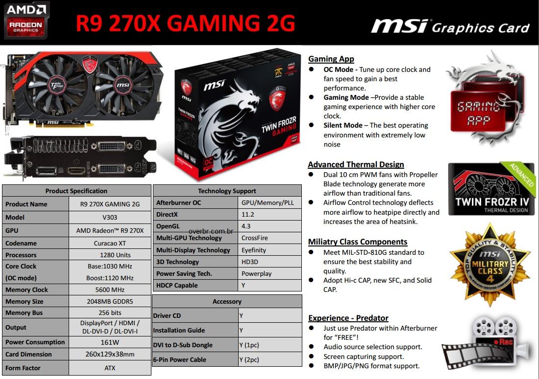 MSI R9-270X gaming