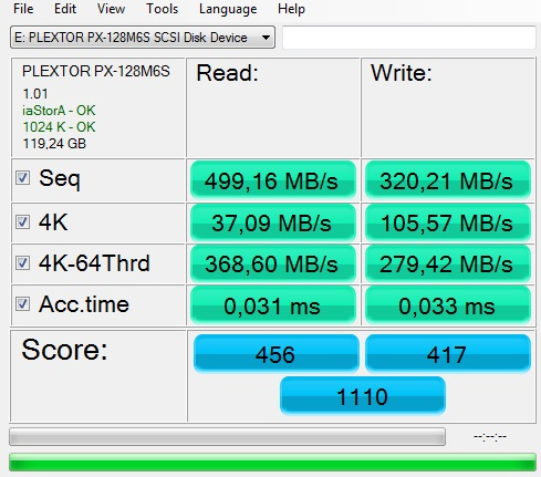 ssd plextor benchmark-assd
