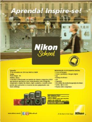 Sucesso em todo o Brasil, Nikon School acontecerá na capital gaúcha no dia 22 de novembro.