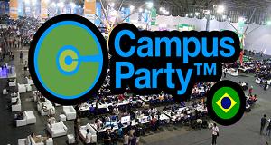 Imagem com logo da Campus party de 2015