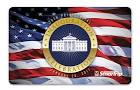 Imagem bandeira Americana com a casa branca impermeando