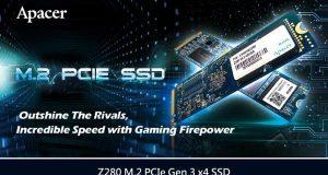 Imagem Apacer Z280 velocidade e desempenho em games