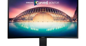 Imagem monitor curvo LED
