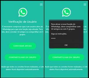 Imagem Whatsap novo golpe no aplicativo