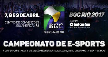 Imagem release BGC Brasil Game Cup