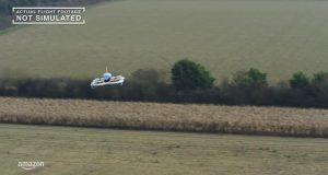 Imagem drone entregador Amazon